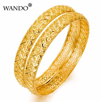 1piece 24k Gold Plated Dubai  Bangles For Women