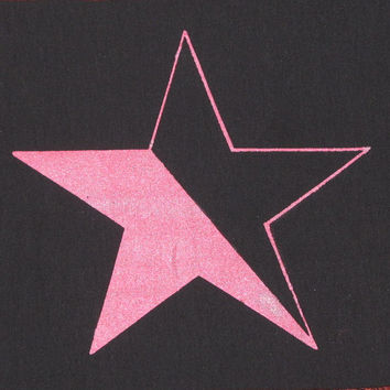 Queer Anarchy Star Patch - Pink on Black Canvas, Large Back Patch - bag anarchy patch punk patches anarchist shiny radical