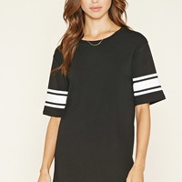 Varsity-Striped T-Shirt Dress