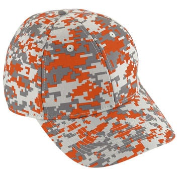 Augusta 6208 Camo Cotton Twill Cap - Orange Camo
