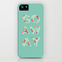 Floral Go Away iPhone & iPod Case by Allyson Johnson