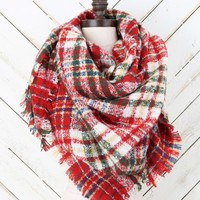 Boucle Squared Blanket Scarf | Altar'd State