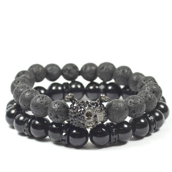 2 Pack Skull and Lava Rock