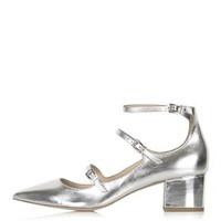 JOLENE Buckle Mid Shoes - Silver