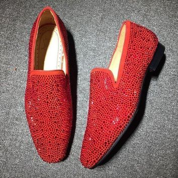 DCCK Cl Christian Louboutin Loafer Style #2311 Sneakers Fashion Shoes