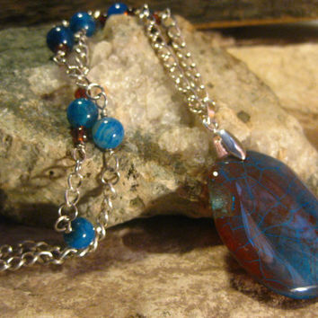 Dragons Vein Agate Pendant Necklace