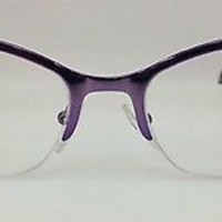 NEW AUTHENTIC PRADA VPR 60P COL MA2-1O1 PURPLE METAL EYEGLASSES FRAME 52MM S