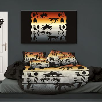 Surfer Bedding CALIFORNIA Beach Comforter