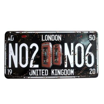 America Vintage Car Plate Wall Hanging Decoration   21