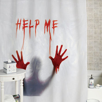 Bloody help me shower curtain  custom showercurtain