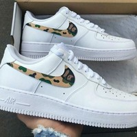 """Nike ""Low to help men's shoes air force sandals camouflage hook leisure sports shoes white G-AA-SDDSL-KHZHXMKH"
