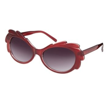 ASOS Ornate Cut Away Cat Eye Sunglasses - Red