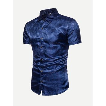 Men Jacquard Blouse