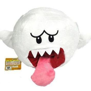 "6.5"" Super Mario Brothers Boo Ghost White Stuffed Plush Doll Toy New"