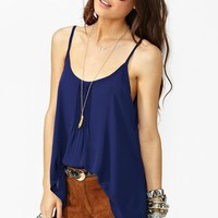 Pretty Pleats Tank - Navy in  What's New at Nasty Gal