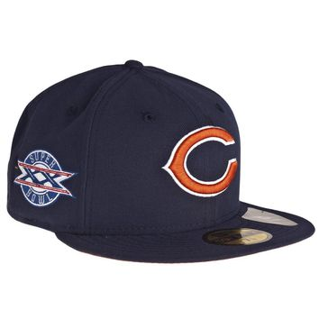 Chicago Bears Super Bowl Xx Side Patch Fitted 59Fifty Cap