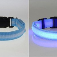 Glow LED Dog Night Safety Collars Supplies