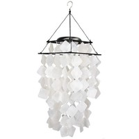 Woodstock Asli Arts Collection, Capiz Solar Chime- White Diamonds