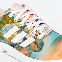 Adidas Originals ZX Flux Dust Pink Print Trainers