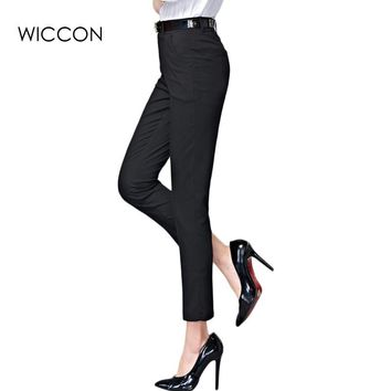 2017 Spring  new fashion high waist pencil pants for women office OL style work wear skinny pants female vintage trousers