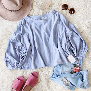 Free People Sugar Rush Tee in Sky