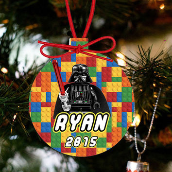 Personalized Christmas LEGO Ornament - Lego Movie Character Darth Vader