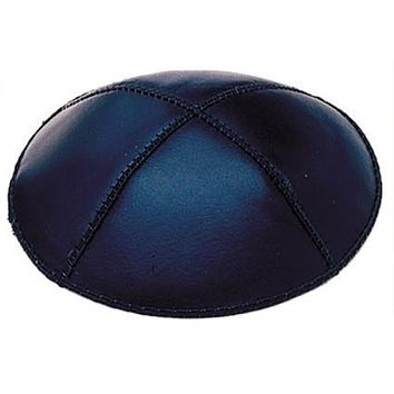 Leather Kippah Skull Caps