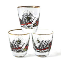 Libbey/Rock Sharpe Shot Glasses, Treasure Island Theme