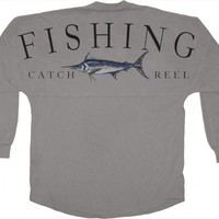 Fishing - Catch - Reel - Classic Crew Neck Spirit Jersey®