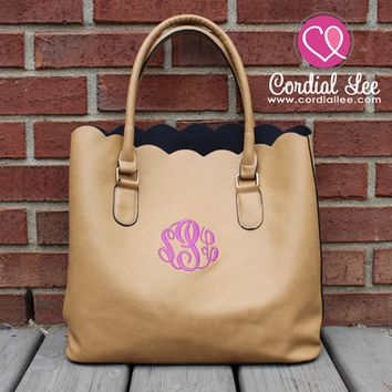 Luxe Scallop Totes