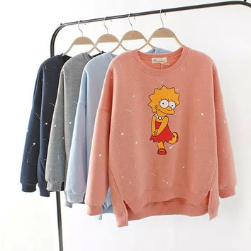 Painted And Lisa Print Sweater
