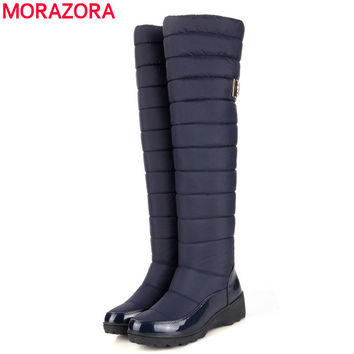 new arrival keep warm snow boots fashion platform fur thigh knee high boots warm winter boots for women shoes boots