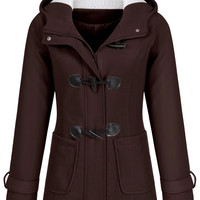 Double-Breasted Mid Length Thick Hooded Coat