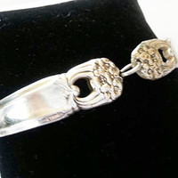 Spoon bracelet, silver jewelry, Mother's day gifts,  Eternally Yours 1941, upcycle, free gift box