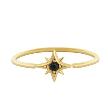 Atlas Ring - Gold/Onyx