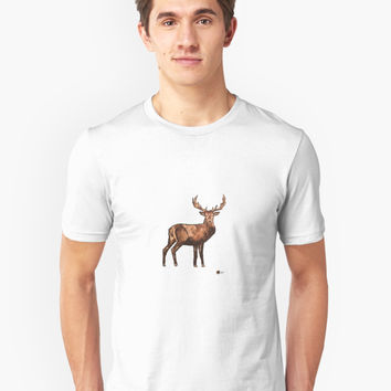 'Deer Painting' T-Shirt by Noble Bison