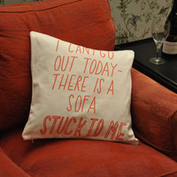 Stuck to a Sofa Cushion copyright by Joyofexfoundation on Etsy