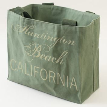 Huntington Beach, CALIFORNIA Blue and Black Tote
