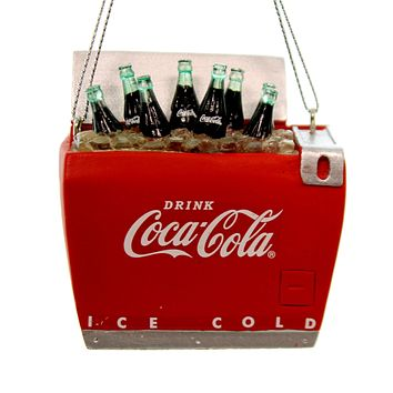 Holiday Ornaments Coca-Cola Bottles In Cooler Resin Ornament