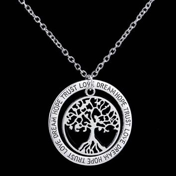 Charm Silver Tree of Life ~ Pendant Necklace  Family Tree 01