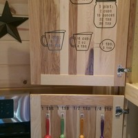 Jar Measurements Decals Labels Decal Kitchen Cabinet Door
