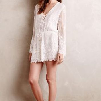 Lucia Embroidered Silk Romper by Zimmermann White