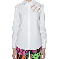 Moschino Cheap and Chic Cotton poplin shirt with cut out
