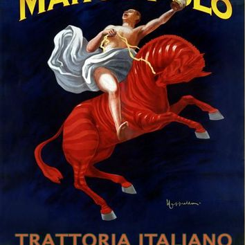 New York Marco Polo Trattoria Ad Fine Art Print