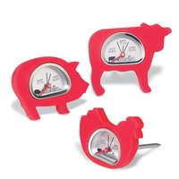 Charbroil Set of 3 Figural BBQ Thermometers