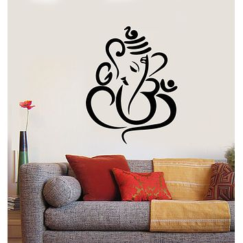 Vinyl Wall Decal Ganesha Elephant God Hinduism Stickers (3347ig)