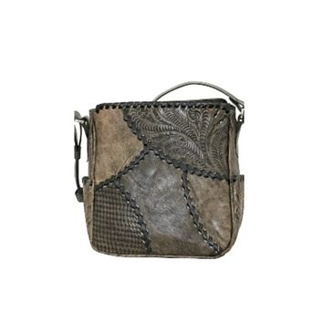 American West- Gypsy Patch All Access Crossbody Bag- Distressed Charcoal