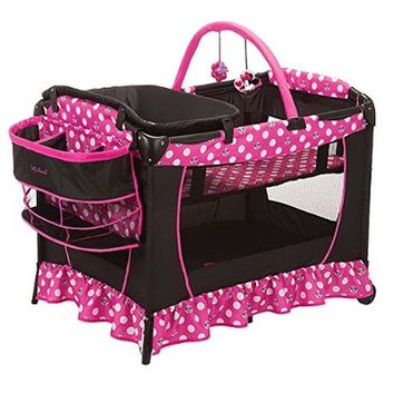 Minnie Mouse Play Yard Bassinet Playpen Crib Diaper Changer