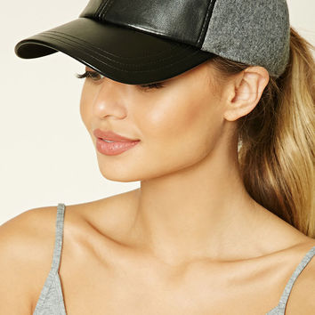 Active Faux Leather Hat