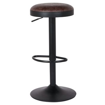 Juno Gaslift Bar Stool (Set of 2) Vintage Coffee Brown
